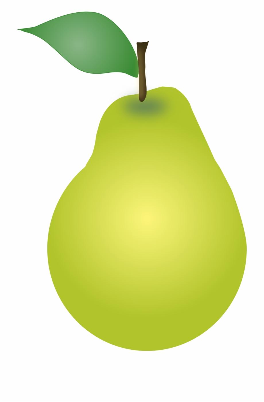 Pear clipart. Cute clip art fruit
