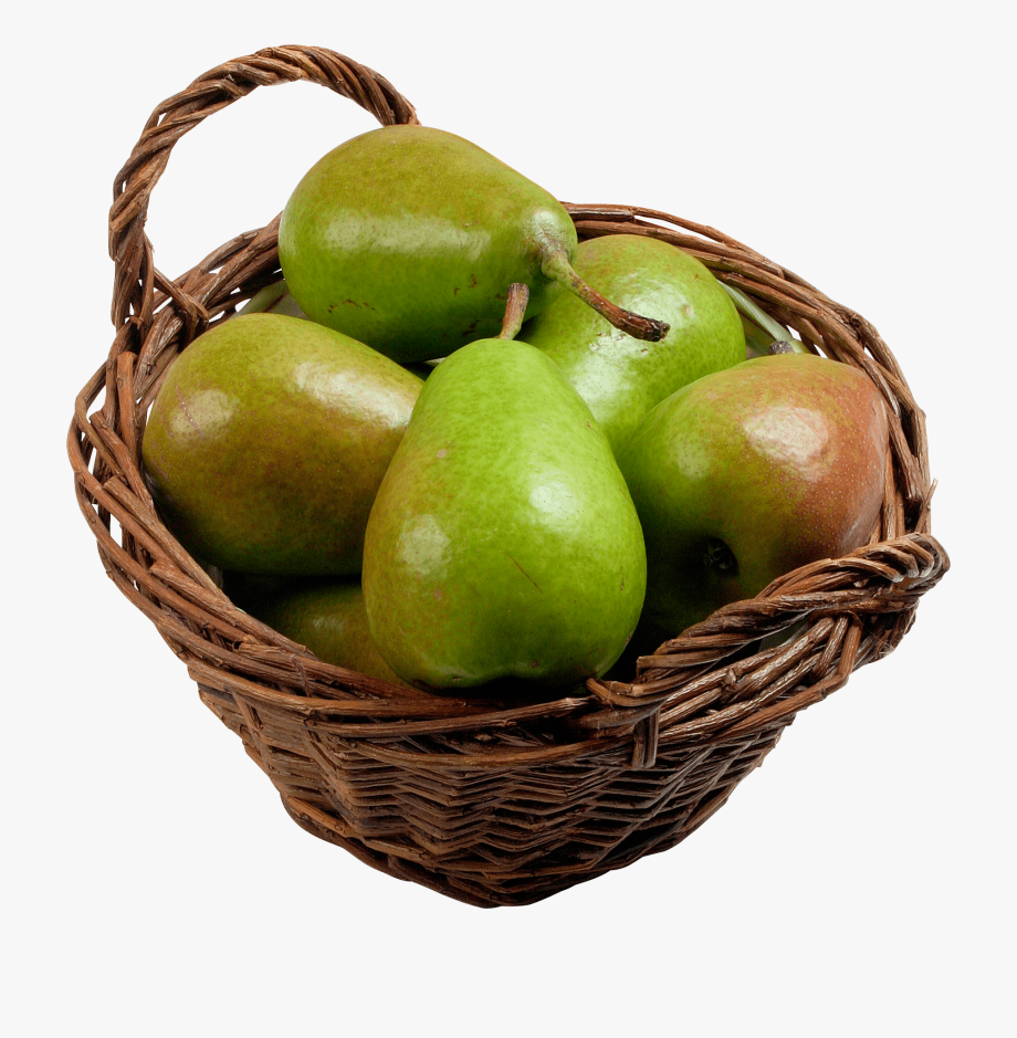 Pear clipart basket. Backet pears in a