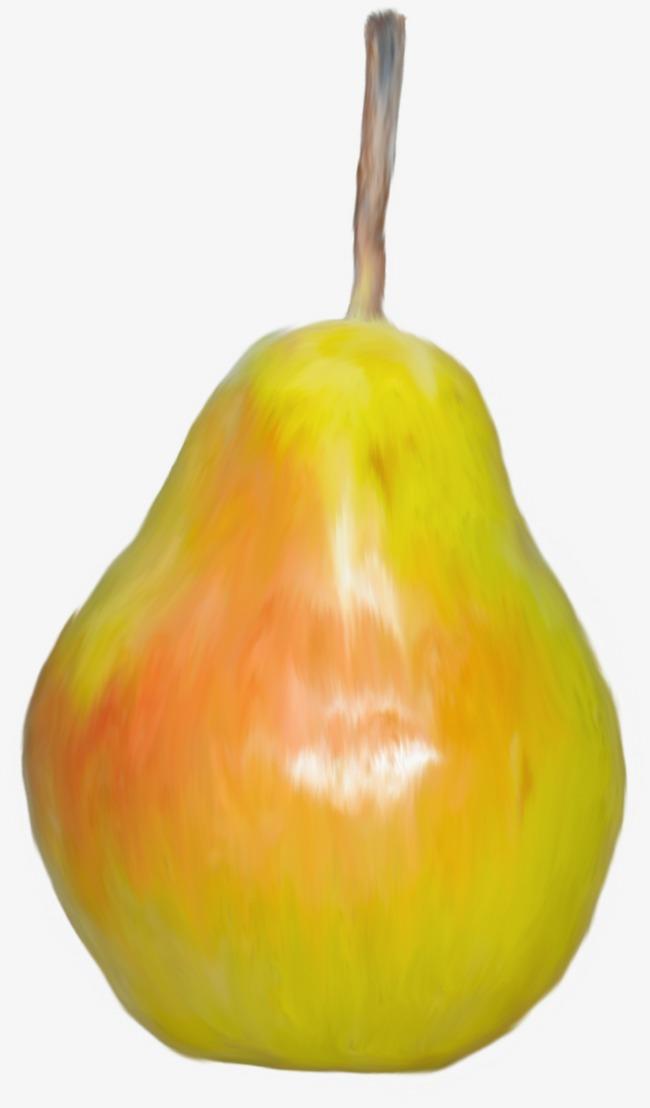 Orange pears . Pear clipart beautiful