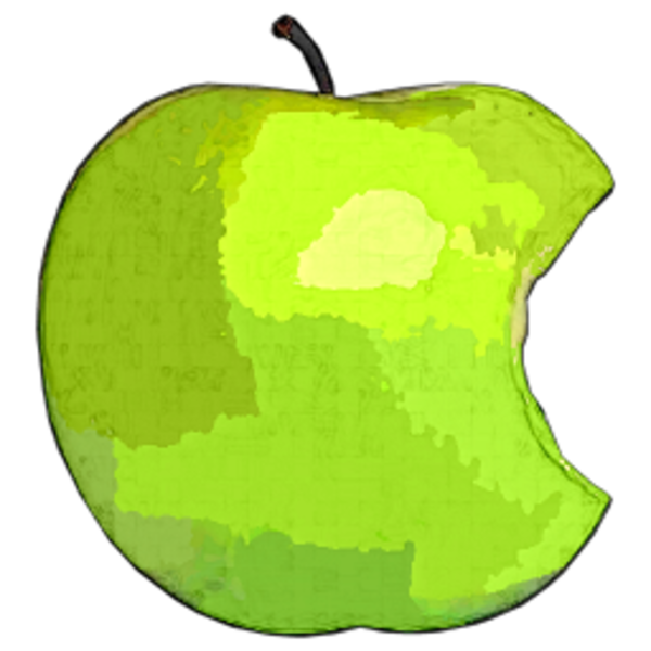 Pear clipart bitten. Apple green free images