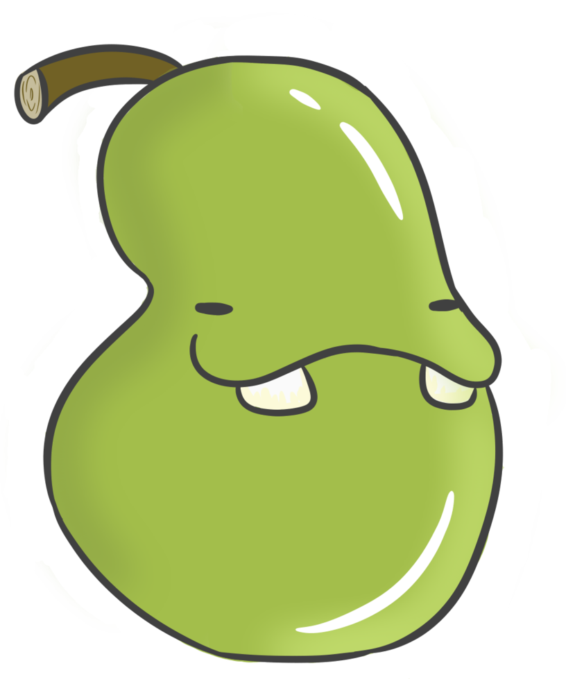 Pear clipart bitten. Biting by lukeblizz on