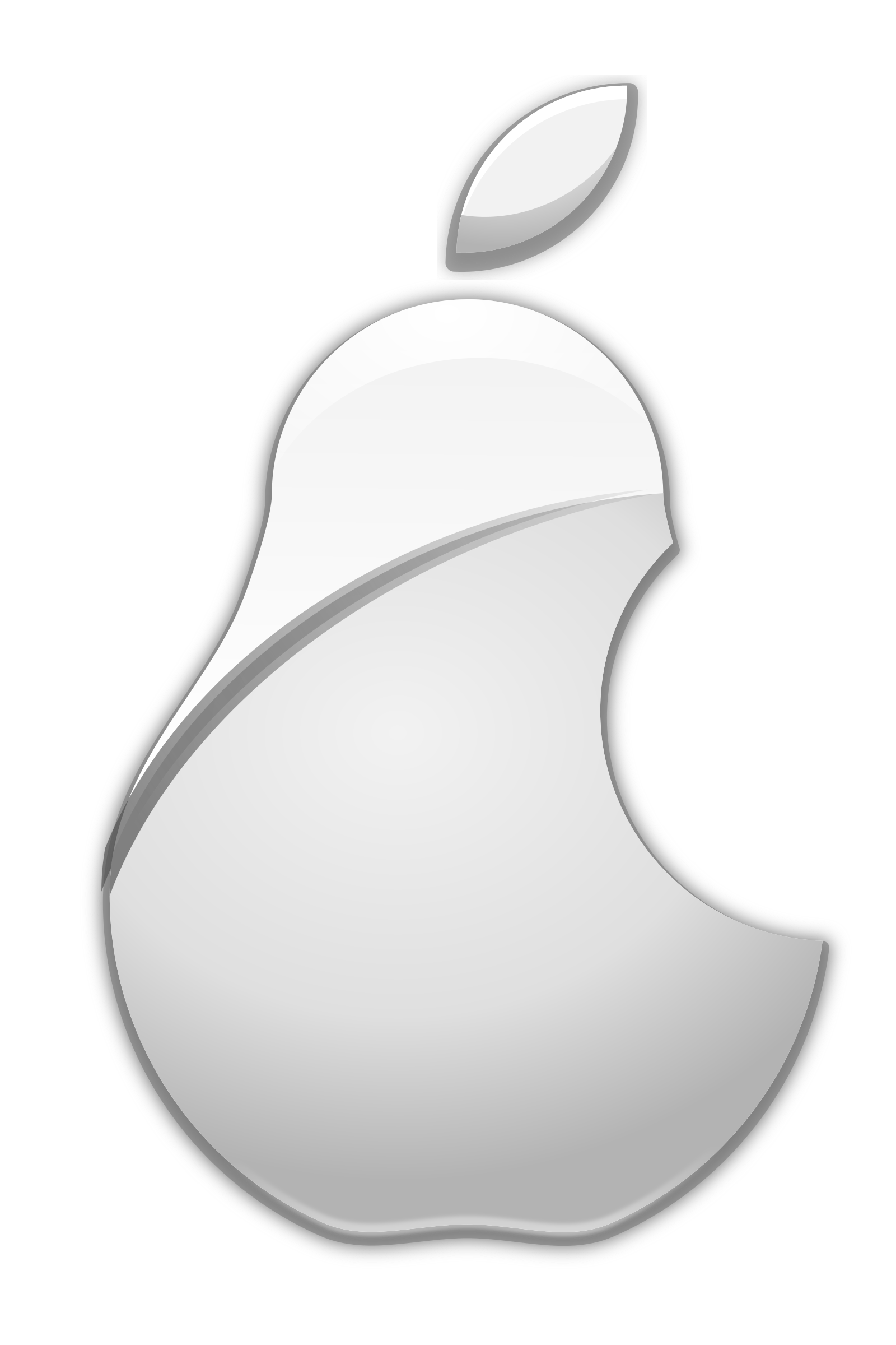 Logo big image png. Pear clipart bitten