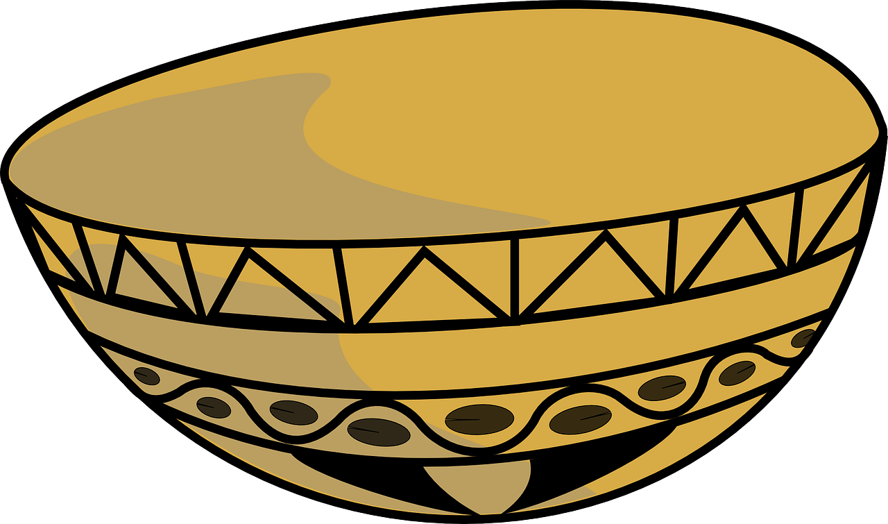 Bowl cup dish serving. Pear clipart calabash