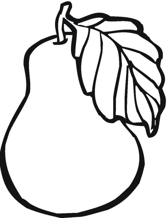 Pear clipart coloring. Fruit page quiltables pages
