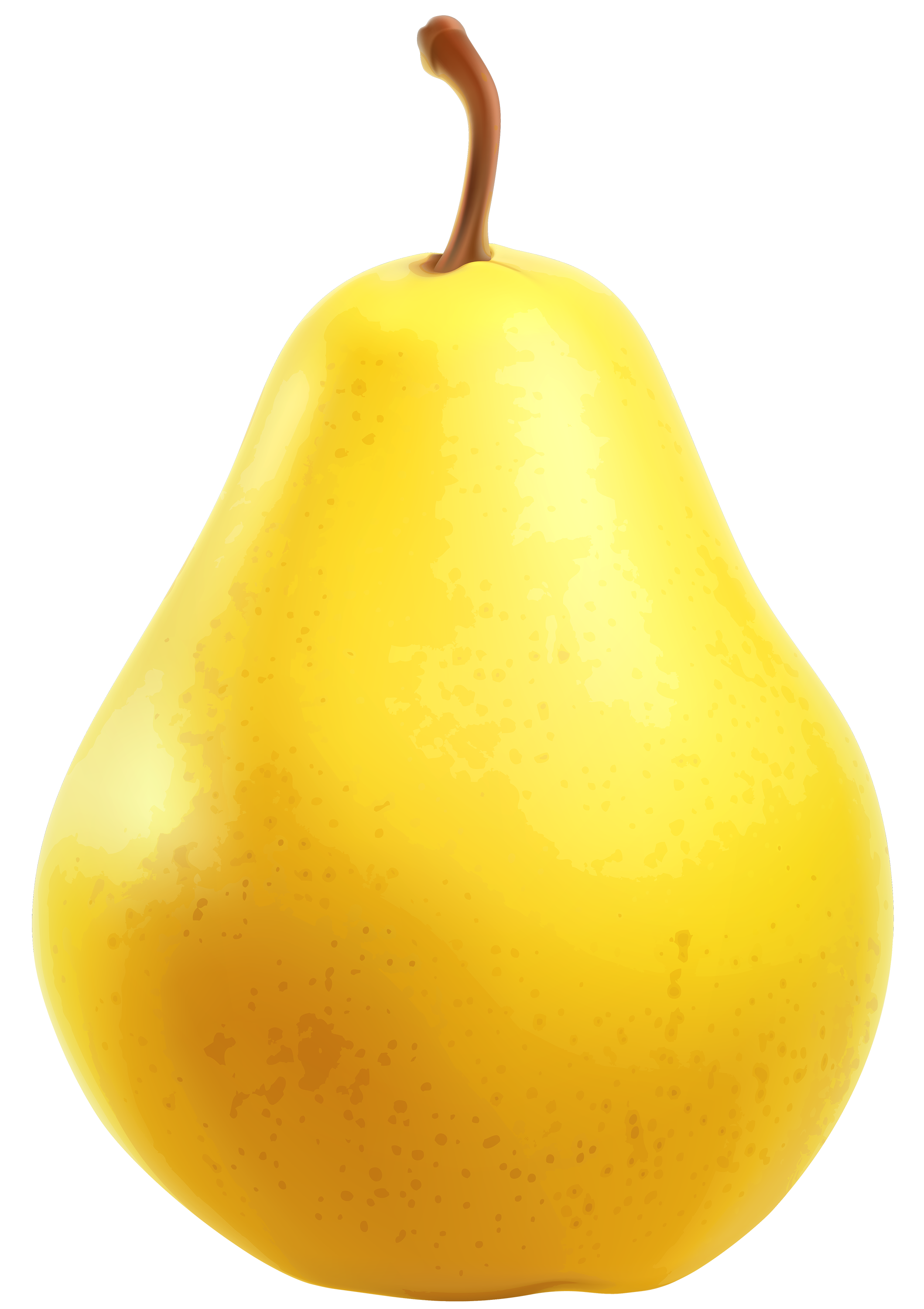 Pear clipart cute. Png letters format yellow