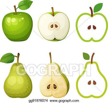 Pear clipart fruit seed. Clip art vector green
