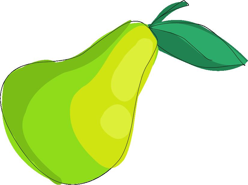Pear clipart green pear. Drawing clip art cartoon