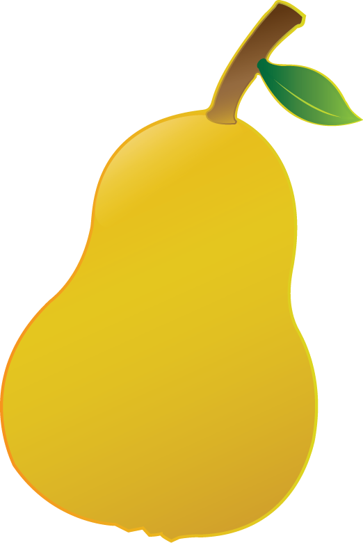 Painting with illustrator cs. Pear clipart illustrated