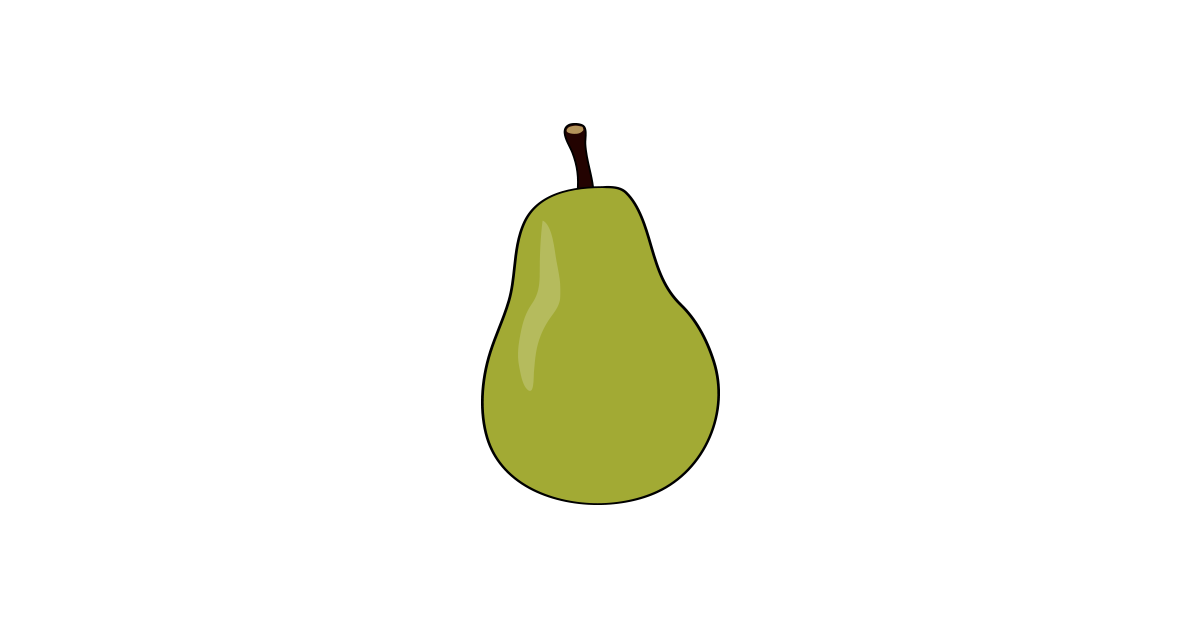 Pear clipart illustrated. Illustration vector and png