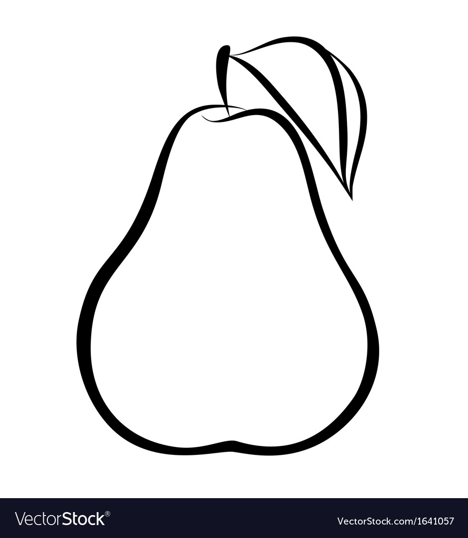 Pear clipart line drawing. Free download clip art