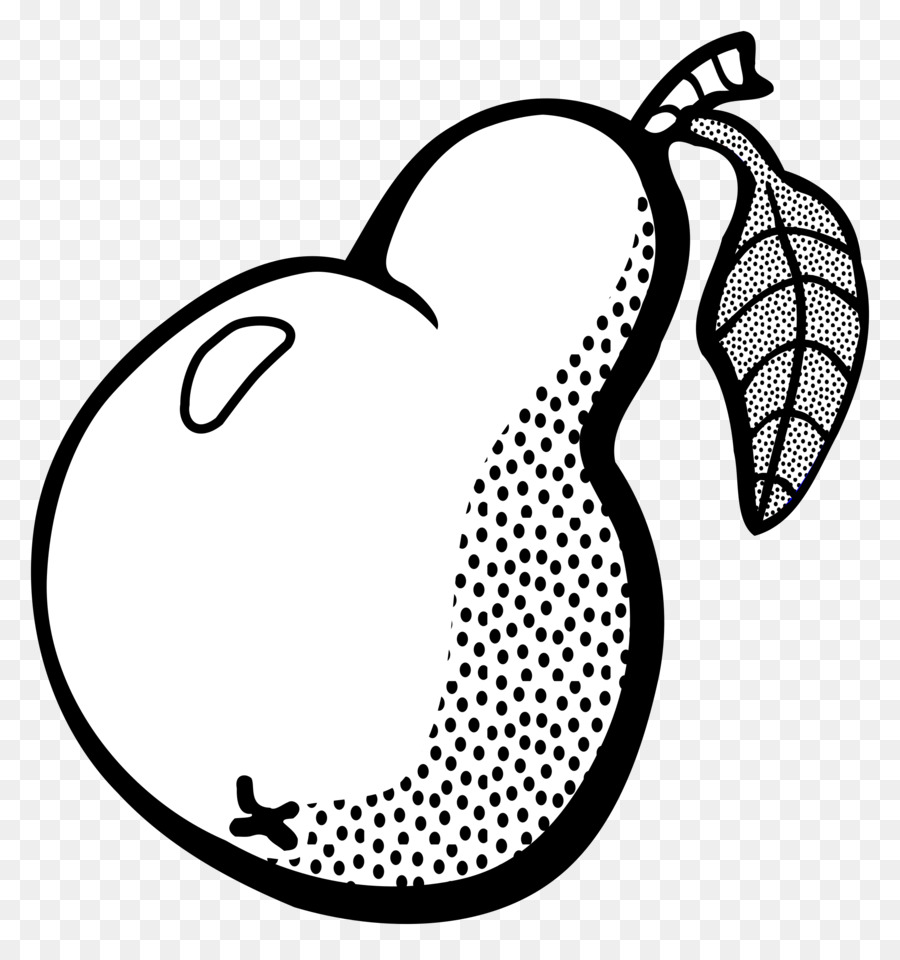 Book black and white. Pear clipart line drawing