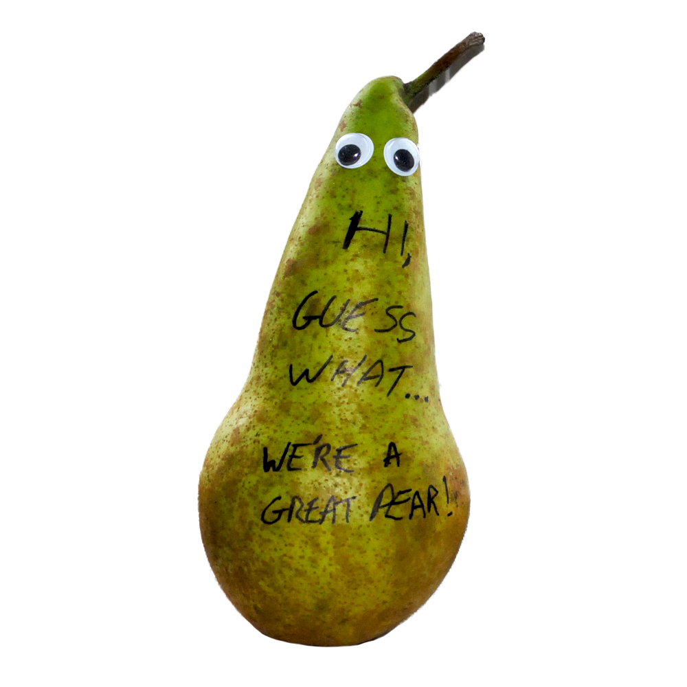 Pear clipart mango. Home message on a