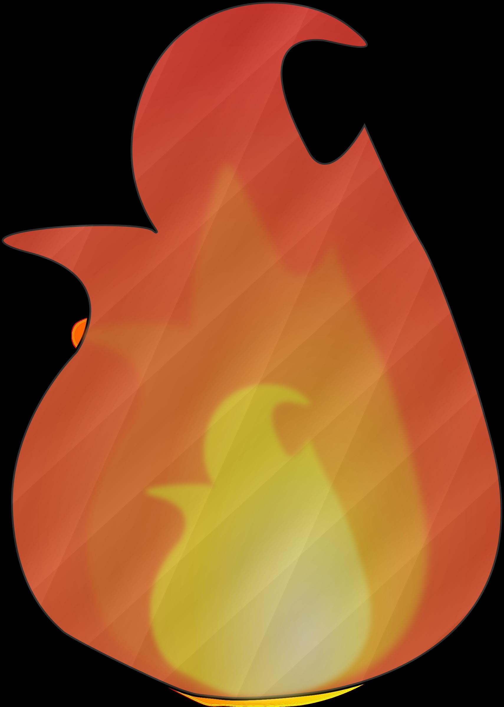 Pear clipart peach. Cloth flame big image