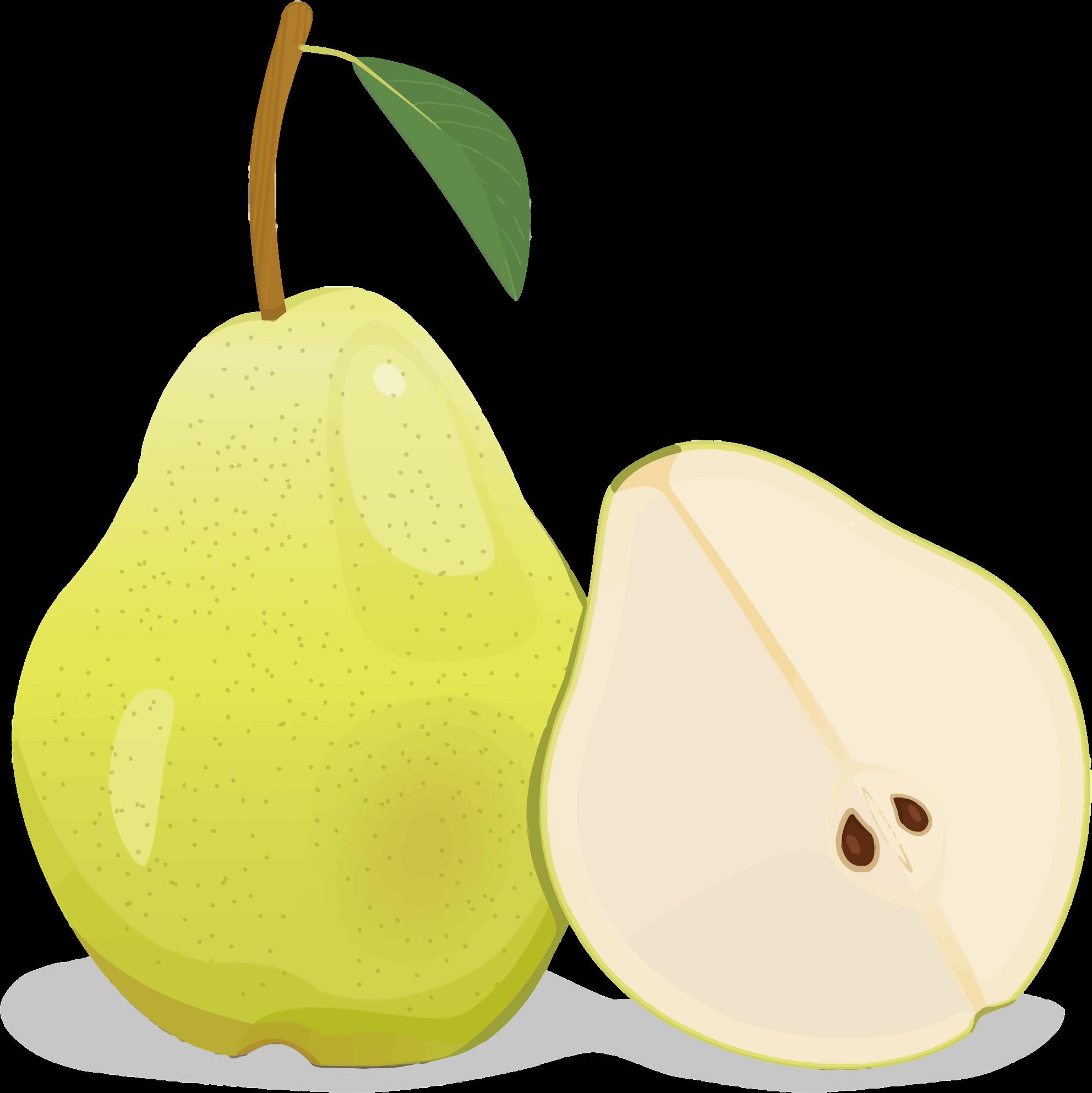 shaped cartoon. Pear clipart pear shape