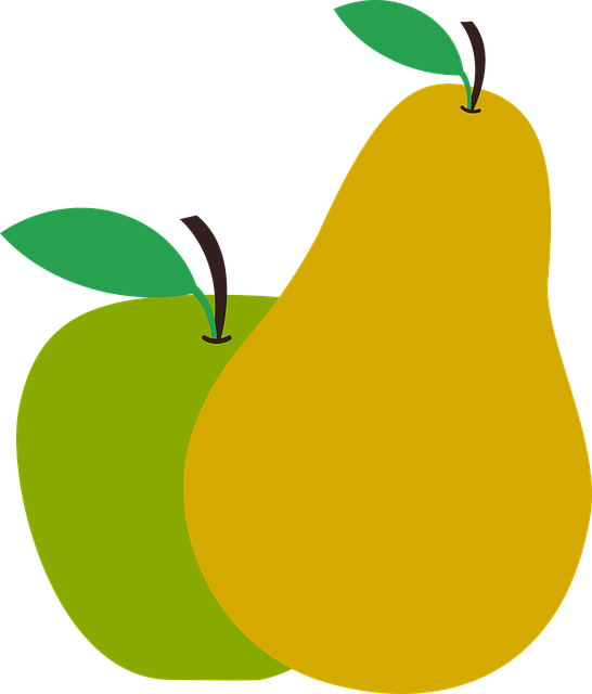 Pear clipart pera. Cestas de frutas las