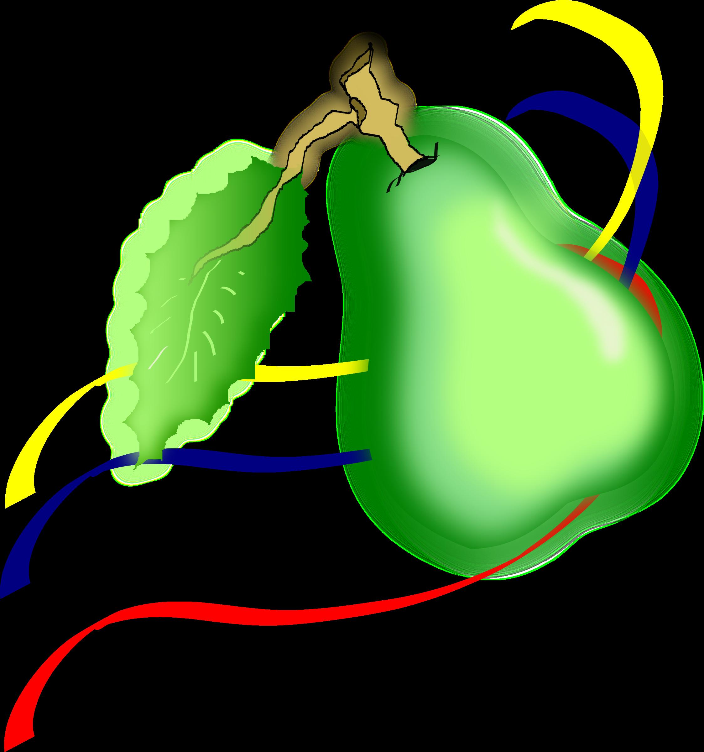 Pear clipart pera. Colombiana big image png