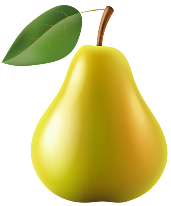 Png images gallery for. Pear clipart pera