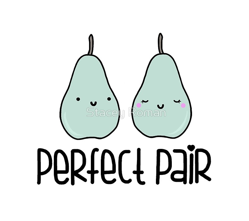 By stacey roman redbubble. Pear clipart perfect pair