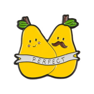Details about pears enamel. Pear clipart perfect pair