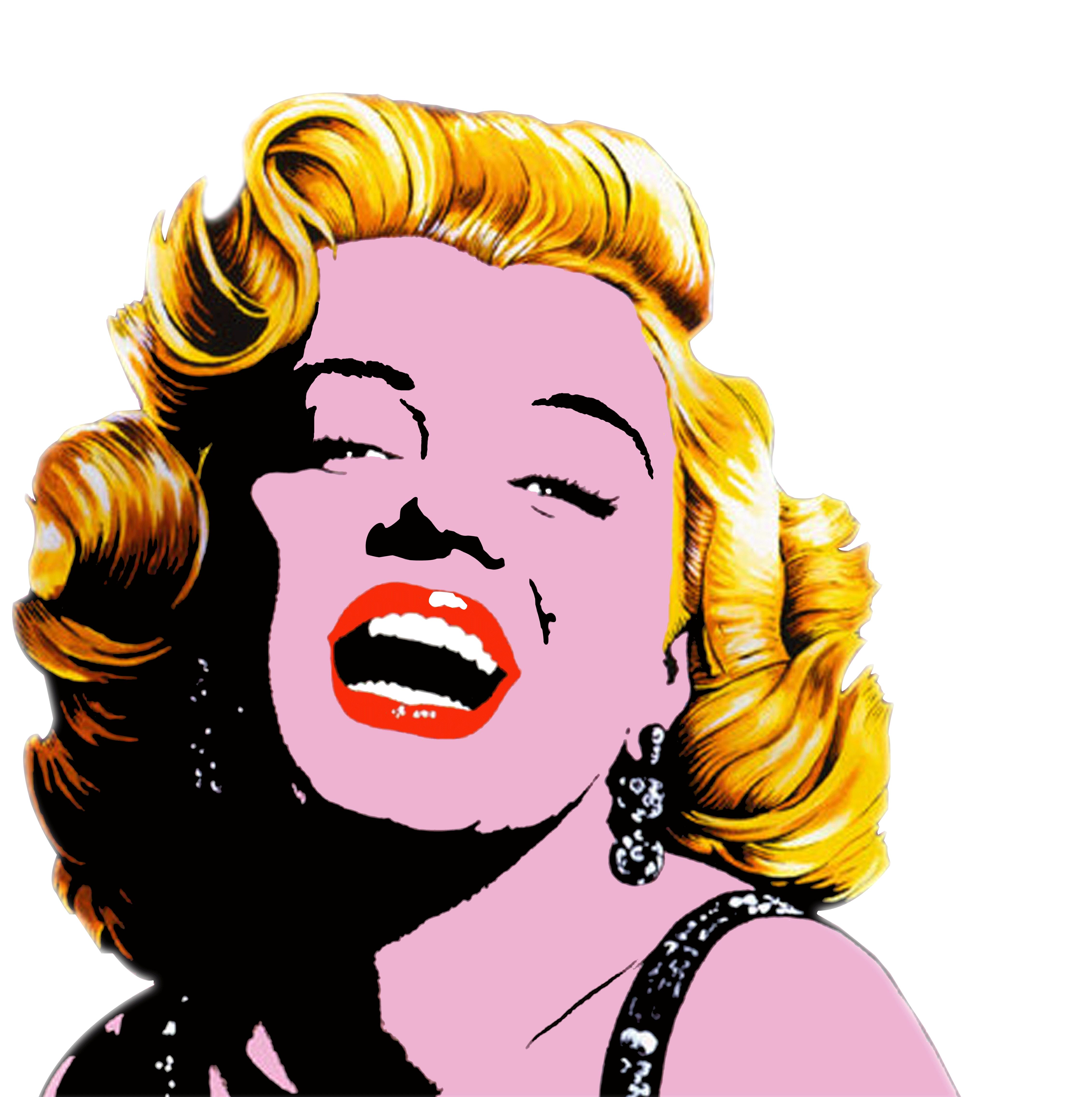 Marilyn monroe painting canvas. Pear clipart pop art