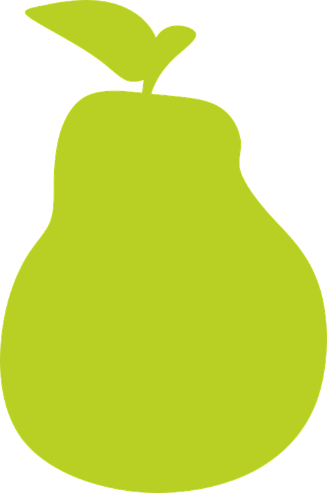 Single fruit free on. Pear clipart pop art