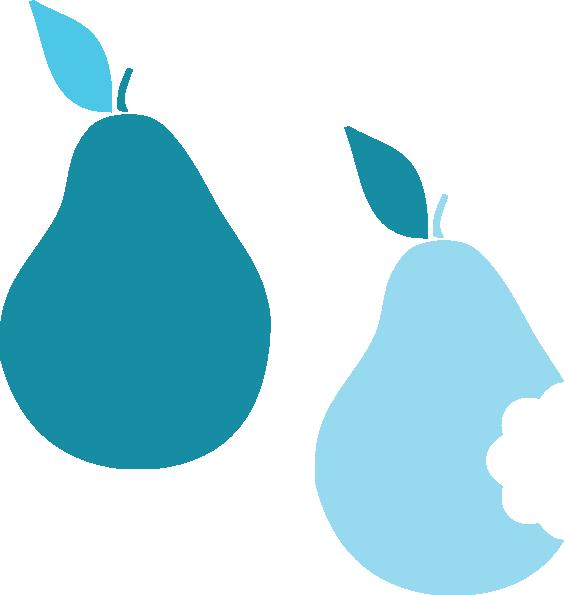 Pear clipart silhouette. Pears clip art at