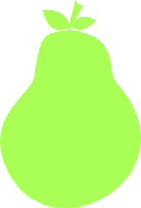 Green clip art at. Pear clipart silhouette