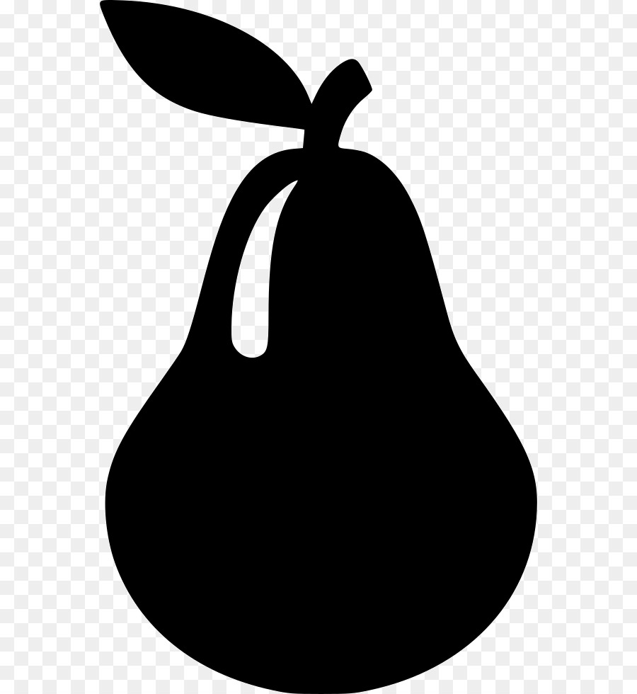 Pear clipart silhouette. Fruit tree graphics transparent