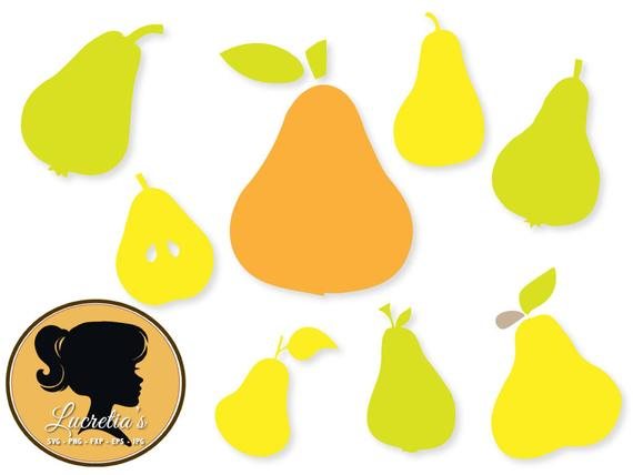 Pear clipart svg. Fruit dxf files for