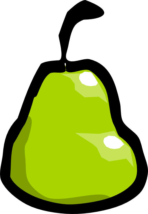 I royalty free public. Pear clipart svg