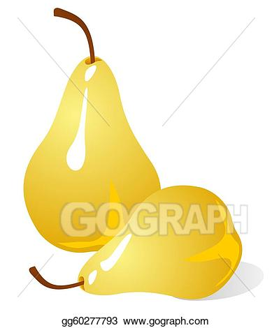 Stock illustration pears illustrations. Pear clipart two