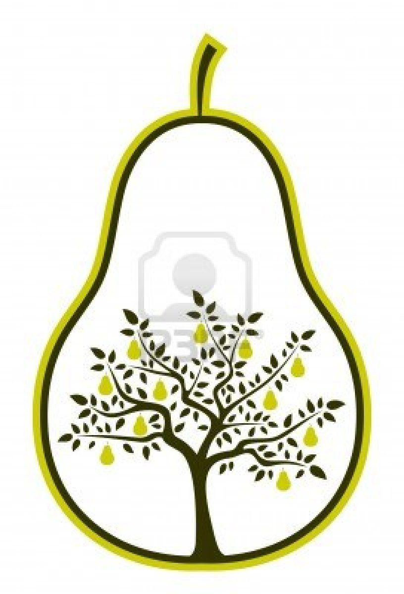 Stock apples and pears. Pear clipart vector