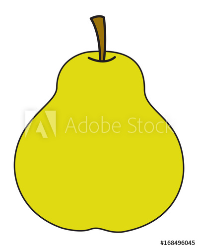 Pear clipart vector. Buy this stock and
