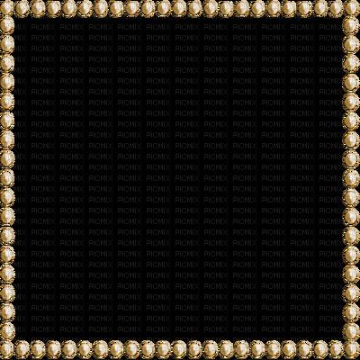 Deco frame brown esme. Pearl border png