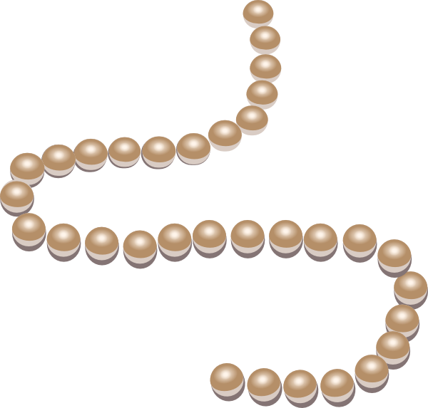 Necklace pearl strand