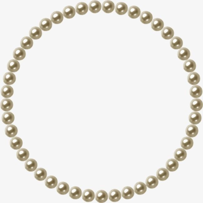 Pearls clipart file. Pearl jewelry frame png