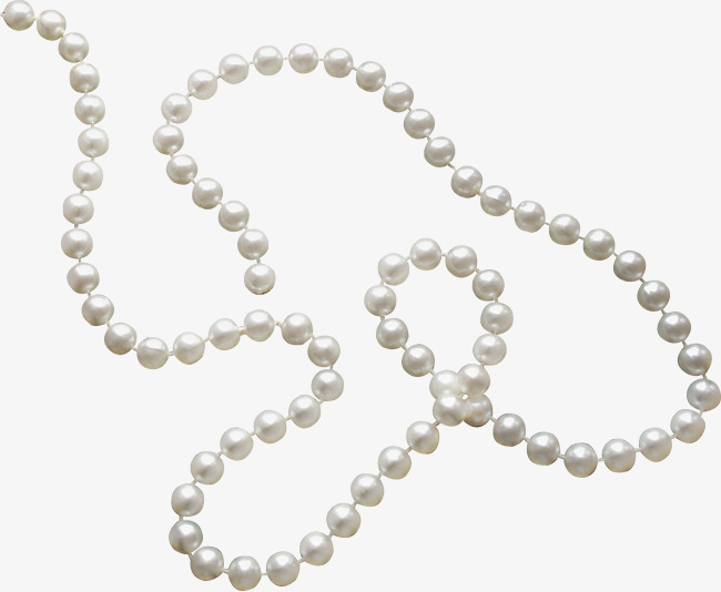 Pearls clipart. White pearl necklace jewelry