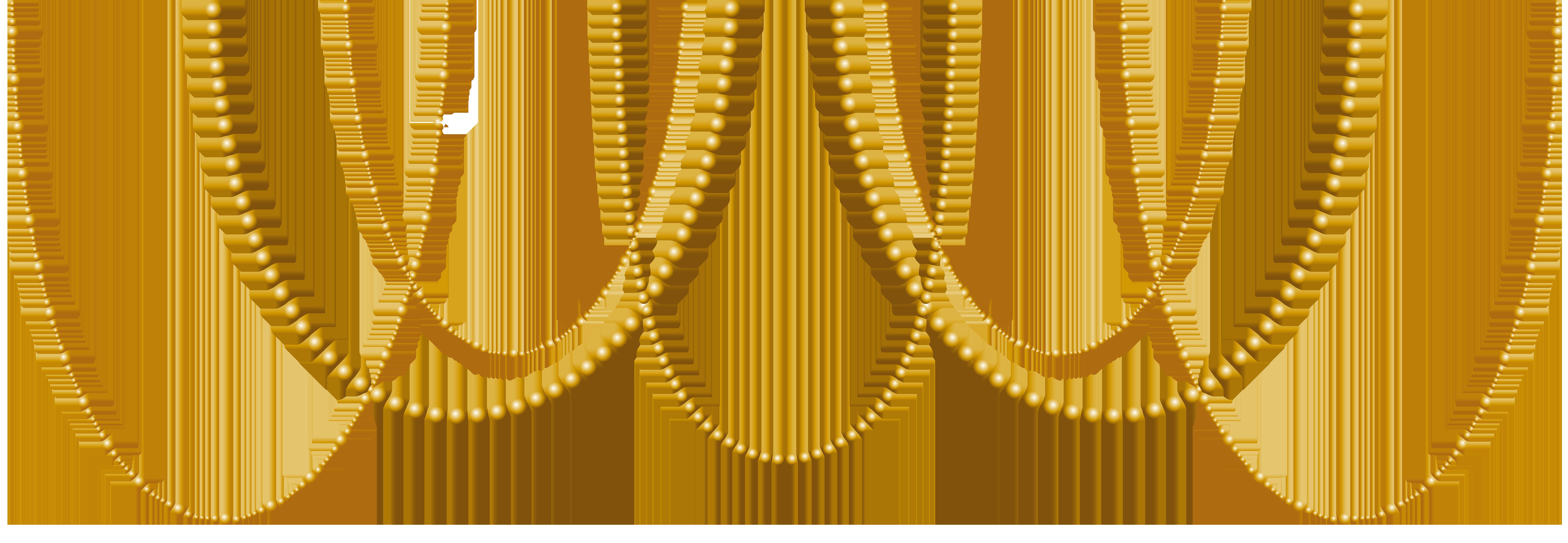 Pearls clipart. Deco gold transparent clip