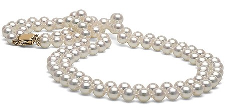 White akoya double strand. Pearls clipart