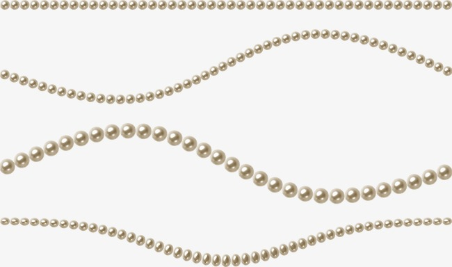 String of accessories pearl. Pearls clipart