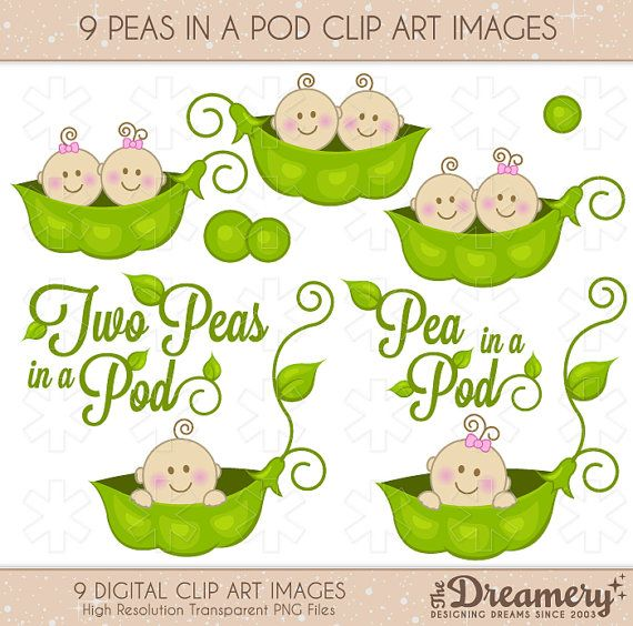 twins clipart pea
