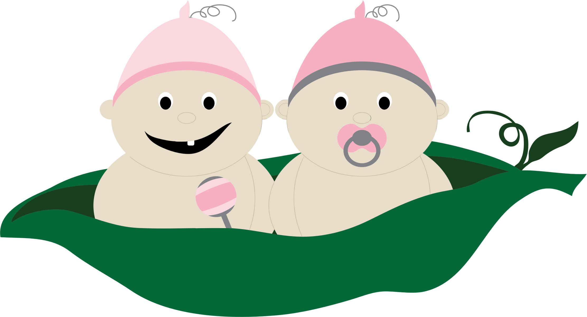 Two peas in a. Twins clipart happy