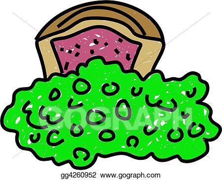 Stock illustration and drawing. Peas clipart pie