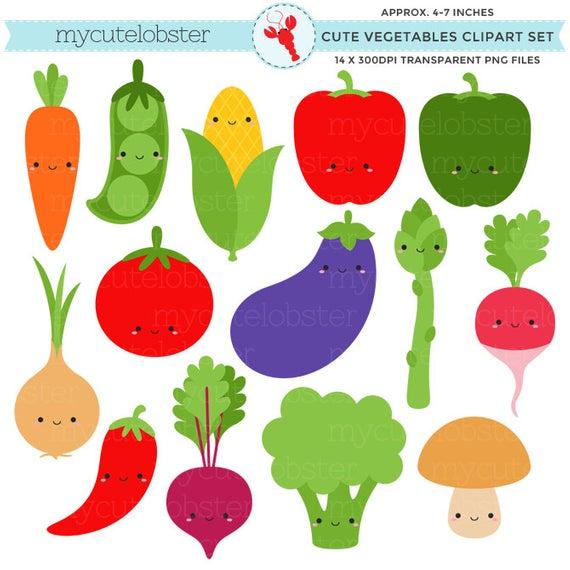 Cute vegetables set clip. Peas clipart vegetable