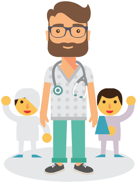 Medical personnel doctor png. Pediatrician clipart
