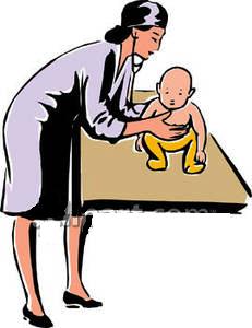 Pediatrician clipart. Pediatricianclipart apediatricianlisteningtoababysbackwithastethoscoperoyaltyfreeclipartpicture