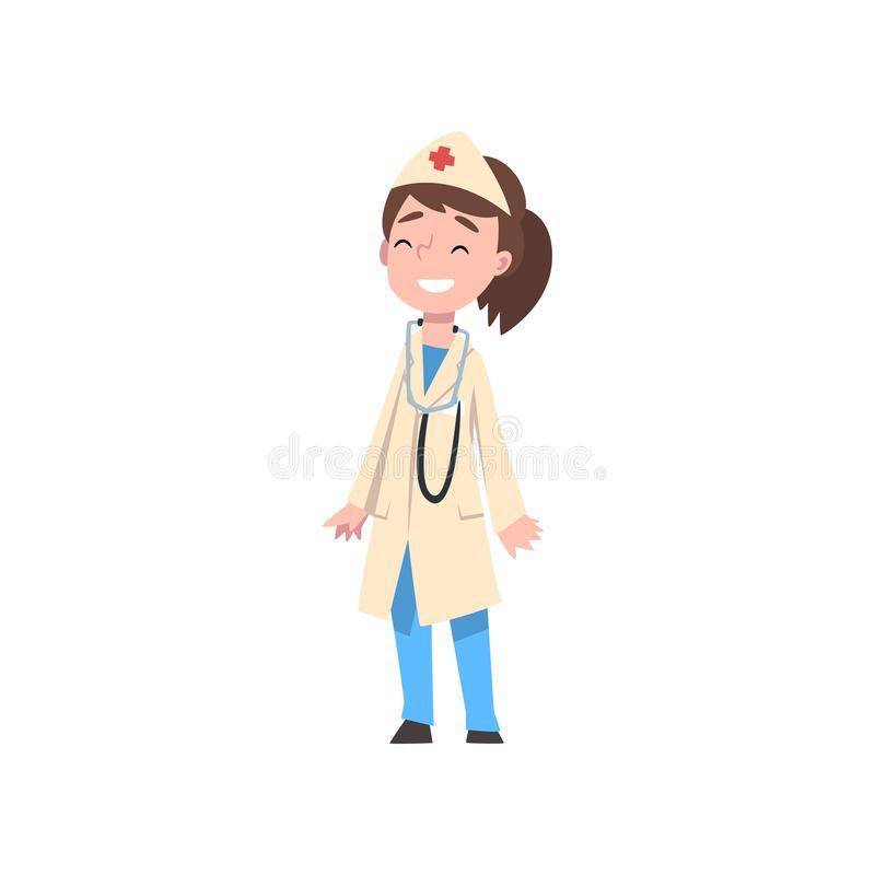 Luxury female medical doctor. Pediatrician clipart cute