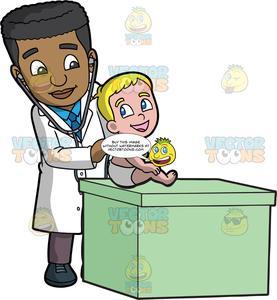 A checking listening to. Pediatrician clipart male pediatrician