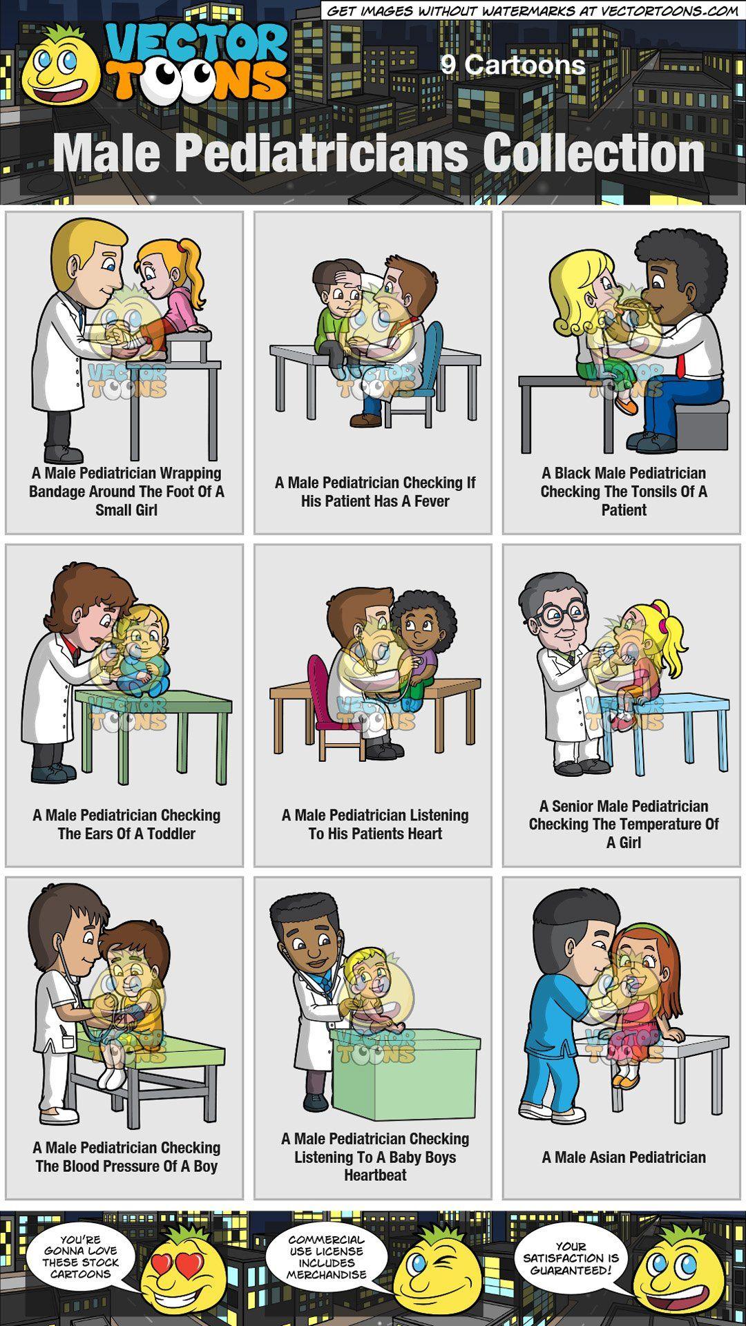 Pediatrician clipart male pediatrician. Pediatricians collection vendor vectortoons