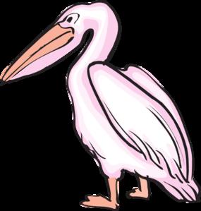 Pink clip art at. Pelican clipart
